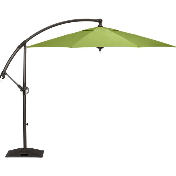 10' Round Sunbrella ® Kiwi Free-Arm Umbrella with Base