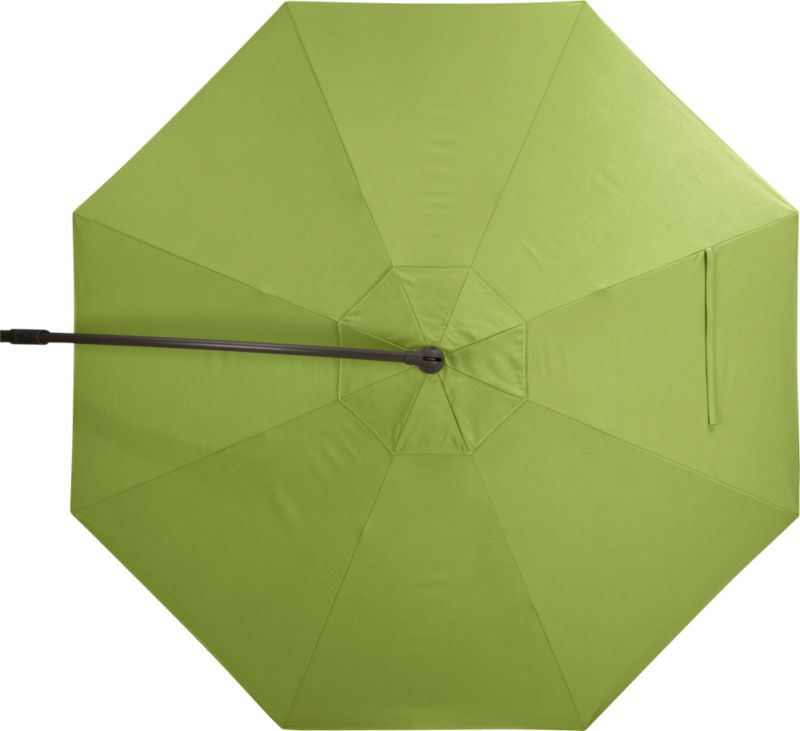 A fresh kiwi green umbrella cover of Sunbrella® acrylic fabric blocks out 98% of the sun's UV rays. Fits our 10' Round Bronze Free-Arm Umbrella Frame with Base (sold separately).<br /><ul><li>Fade- and mildew-resistant Sunbrella acrylic</li><li>Made in USA</li></ul><NEWTAG/>