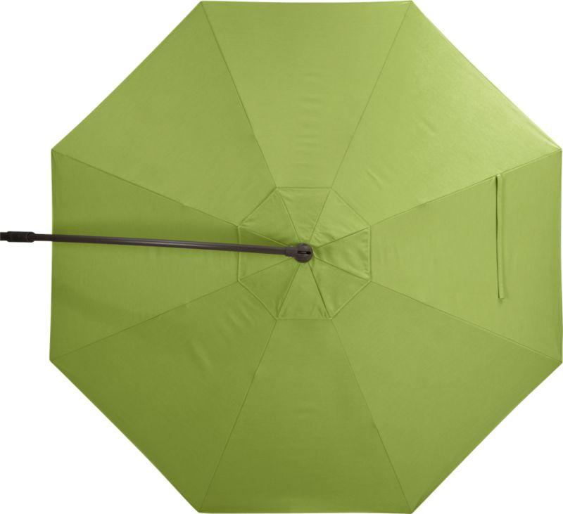 A fresh kiwi green umbrella cover of Sunbrella® acrylic fabric blocks out 98% of the sun's UV rays. Fits our 10' Round Bronze Free-Arm Umbrella Frame with Base (sold separately).<br /><ul><li>Fade- and mildew-resistant Sunbrella acrylic</li><li>Made in USA</li></ul><NEWTAG/>