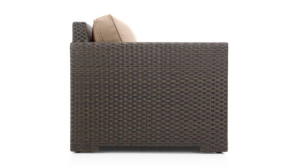 Ventura Umber Modular Left Arm Chair with Sunbrella ® Cushions