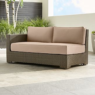 Ventura Modular Left Arm Loveseat with Sunbrella ® Cushions