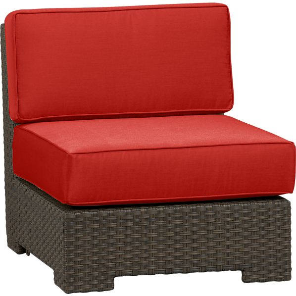 Ventura Modular Armless Chair with Sunbrella ® Caliente Cushions