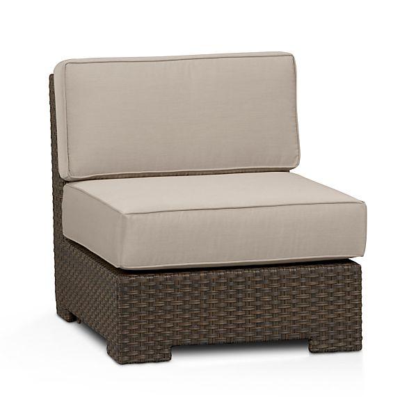Ventura Modular Armless Chair with Sunbrella ® Stone Cushions