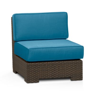 Ventura Modular Armless Chair with Sunbrella® Turkish Tile Cushions