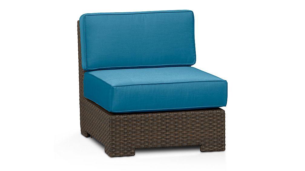 Ventura Modular Armless Chair with Sunbrella ® Cushions