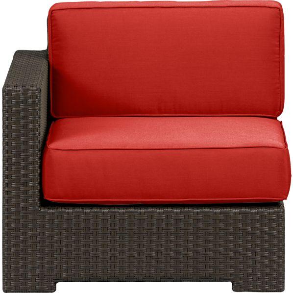 Ventura Modular Left Arm Chair with Sunbrella ® Caliente Cushions