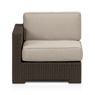 Ventura Modular Left Arm Chair with Sunbrella® Stone Cushions