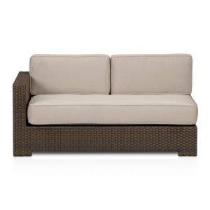 Ventura Modular Left Arm Loveseat with Sunbrella® Stone Cushions