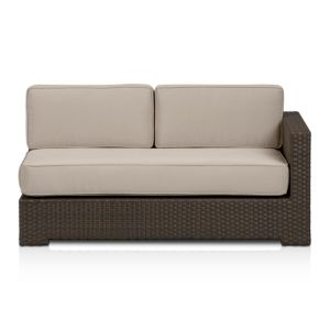 Ventura Modular Right Arm Loveseat with Sunbrella® Stone Cushions