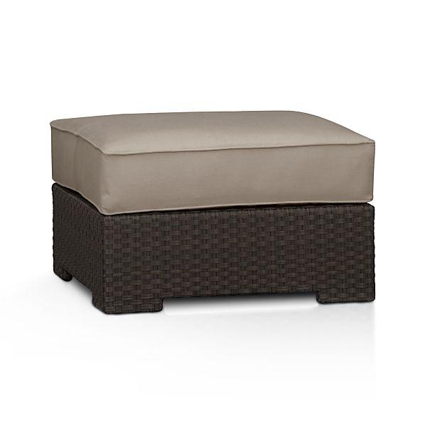 Ventura Ottoman with Sunbrella ® Stone Cushion