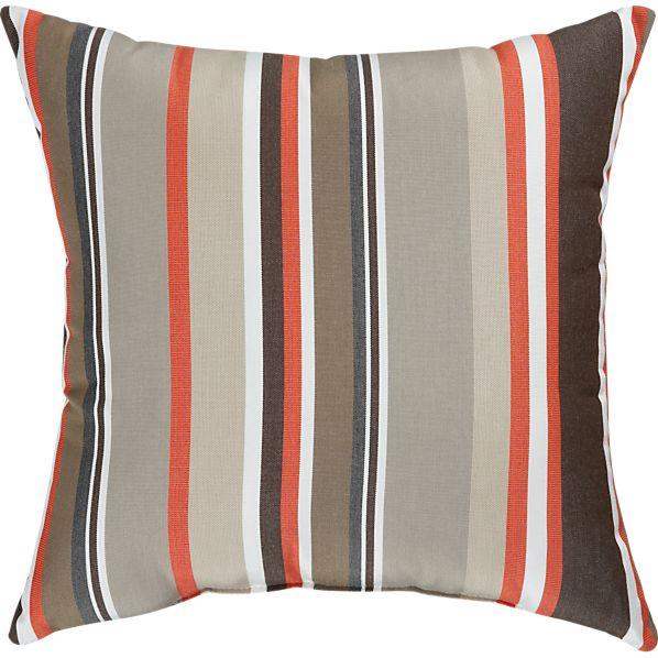 """Sunbrella ® Valencia Stripe 20"""" Sq. Outdoor Pillow"""