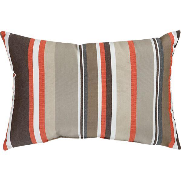 """Sunbrella ® Valencia Stripe 20""""x13"""" Outdoor Pillow"""