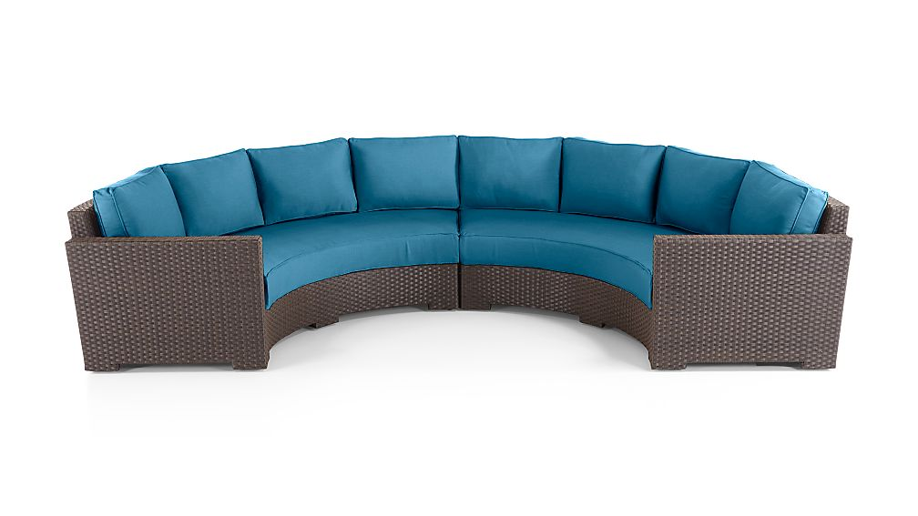 Ventura Round 2 Piece Sectional with Sunbrella Cushions