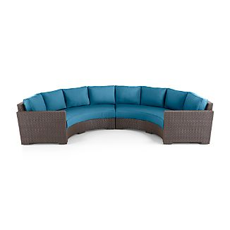 Ventura Round 2-Piece Sectional with Sunbrella ® Cushions