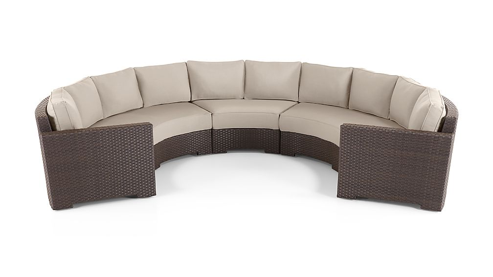 Ventura Round 3 Piece Sectional with Sunbrella Cushions