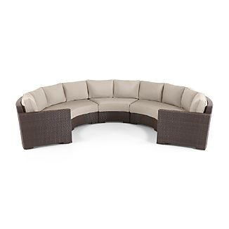 Ventura Round 3-Piece Sectional with Sunbrella ® Cushions Small