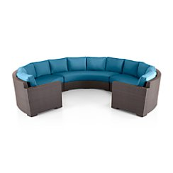 Ventura Round 3-Piece Sectional with Sunbrella ® Cushions Large