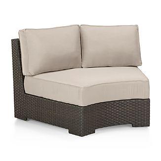 Ventura Round Armless Chair with Sunbrella ® Cushions