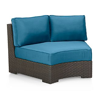 Ventura Round Armless Chair with Sunbrella ® Cushions