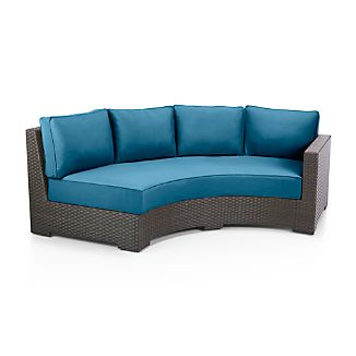 Ventura Round Right Arm Sofa with Sunbrella ® Cushions