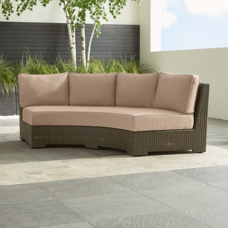 Ventura 3-Piece Round Armless Sofa with Sunbrella ® Cushions