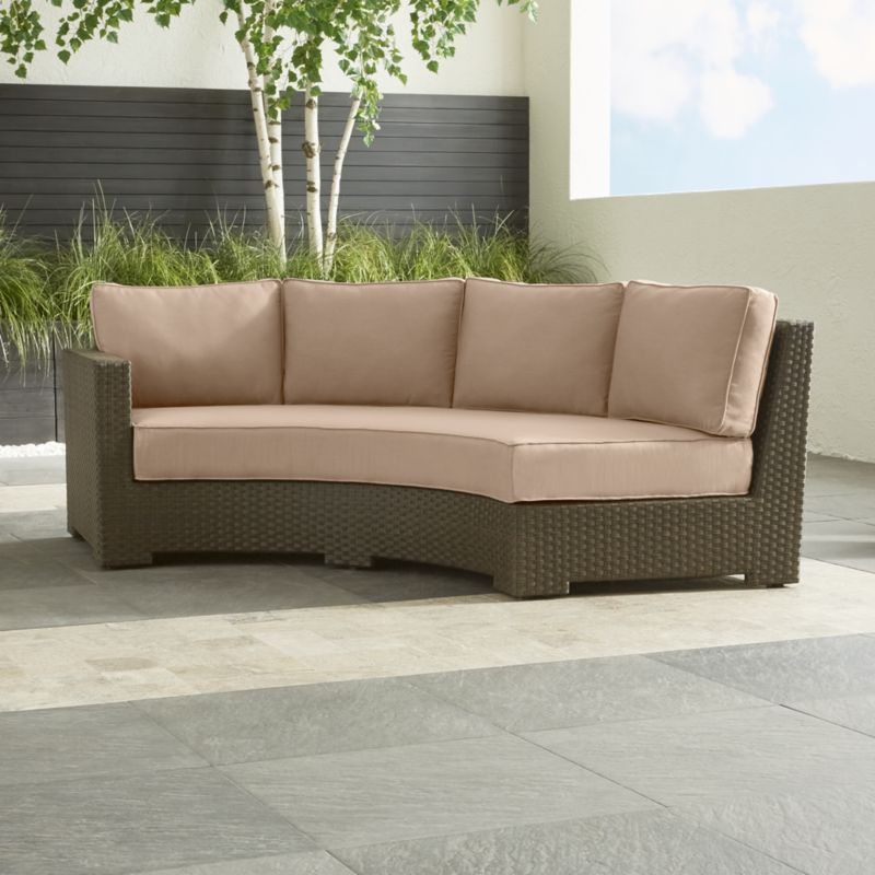 Ventura Round Left Arm Sofa with Sunbrella ® Cushions