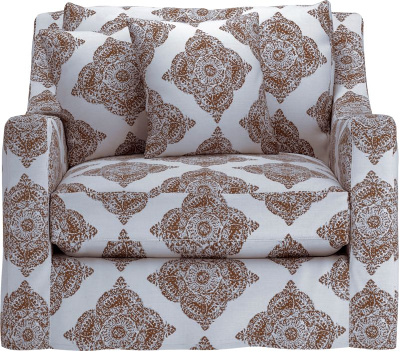 "Curve-hugging slipcover makes the most of Verano's graceful curves and plump cushioning.<br /><br />Additional <a href=""http://crateandbarrel.custhelp.com/cgi-bin/crateandbarrel.cfg/php/enduser/crate_answer.php?popup=-1&p_faqid=125&p_sid=DMUxFvPi"">slipcovers</a> available below and through stores featuring our Furniture Collection.<br /><br /><NEWTAG/>After you place your order, we will send a fabric swatch via next day air for your final approval. We will contact you to verify both your receipt and approval of the fabric swatch before finalizing your order.<br /><ul><li>95% cotton and 5% linen</li><li>Machine wash</li><li>See additional frame options below</li></ul>"