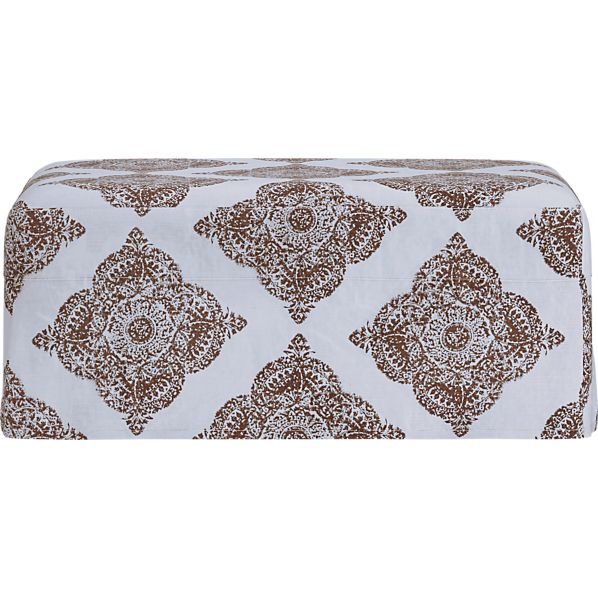 Verano Slipcovered Ottoman and a Half