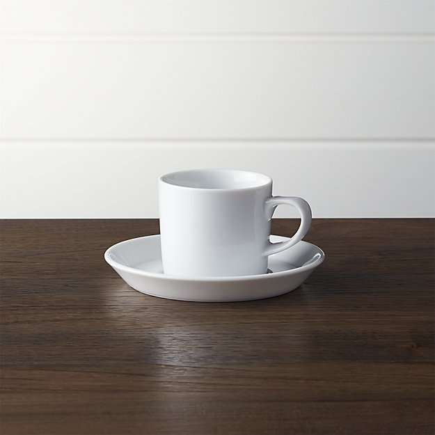 Verge 4 oz. Espresso Cup and Saucer