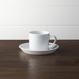 Verge 4 oz. Espresso Cup and Saucer