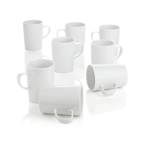Set of 8 Verge Latte Mugs
