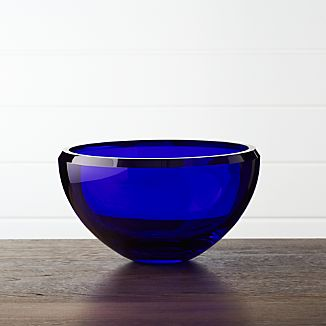 Victor Cobalt Blue Glass Bowl
