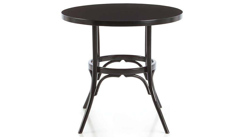 Vienna Black Round Bistro Table