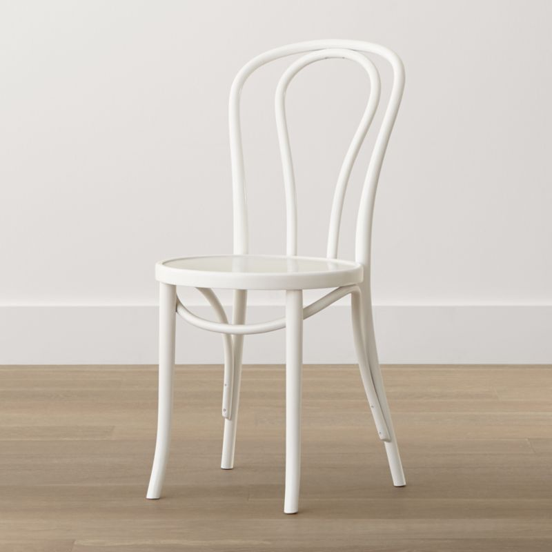 In 1859, Michael Thonet introduced the concept of bending wood with steam to design the iconic bentwood chair. Today, our bent beechwood Vienna chair is produced in one of the original Thonet factories in Europe. <NEWTAG/><ul><li>Bent beechwood frame and seat in white lacquer finish</li><li>Engineered wood seat</li><li>Made in Poland</li></ul><br /><br />