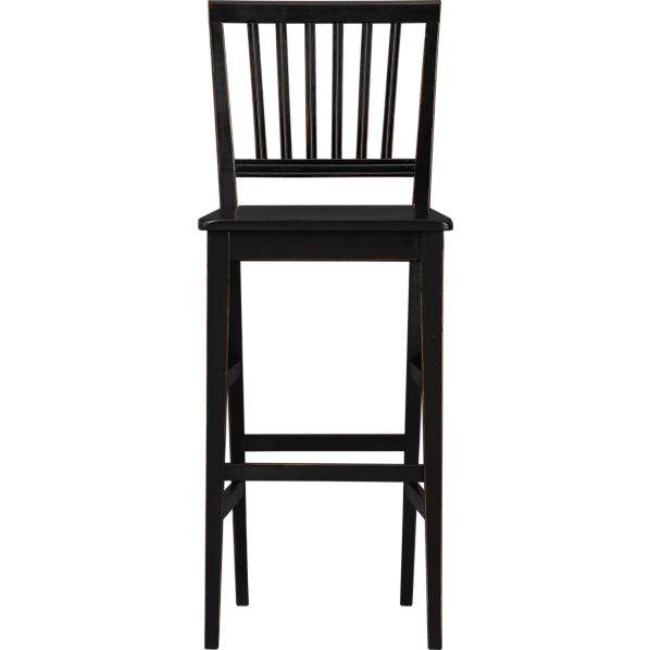 "Village Black 30"" Barstool"