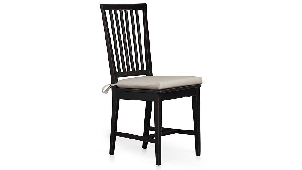 Village Bruno Black Wood Dining Chair