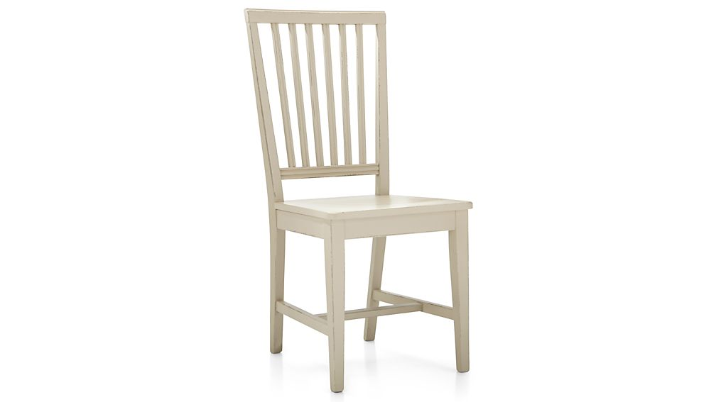 village vamelie wood dining chair and natural cushion crate and