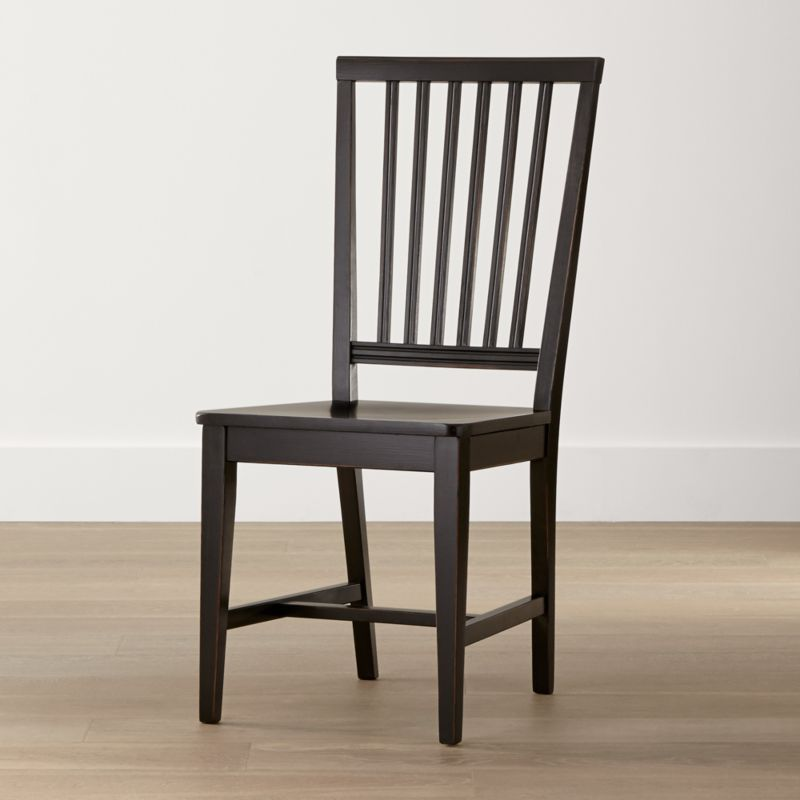 Crate And Barrel Dining Room Chairs: Village Bruno Black Wood Dining Chair