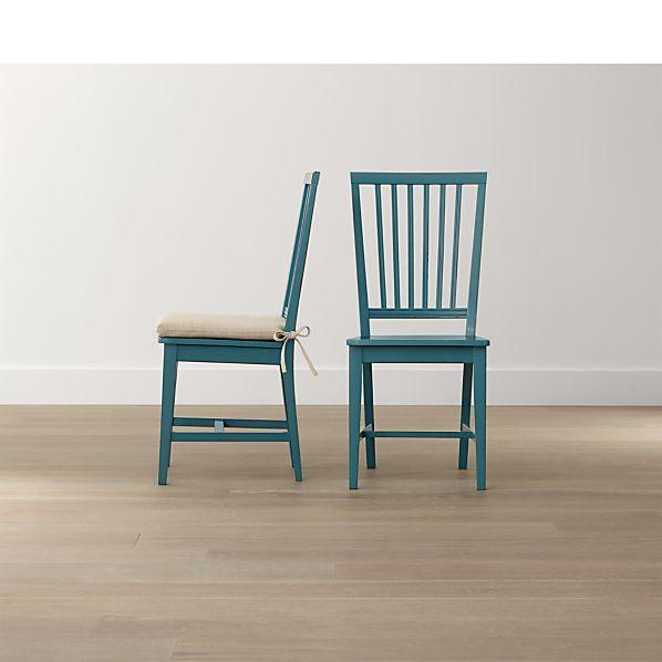 Village Faella Wood Dining Chair and Natural Cushion
