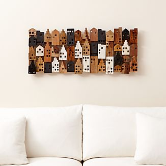 Village Rectangular Wall Art