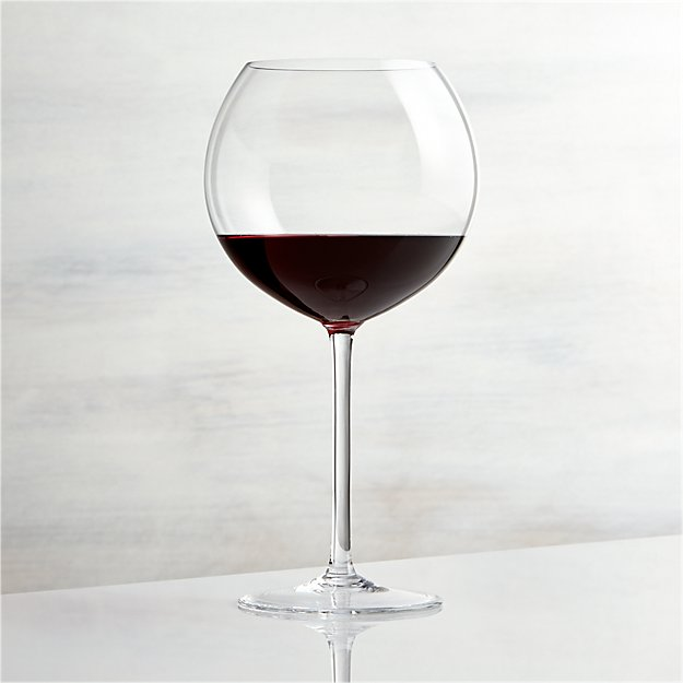 Vineyard 26 oz burgundy wine glass crate and barrel for Large red wine glass