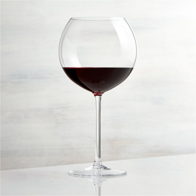 This elegant stemware features oversized proportions that really let big wines breathe. Wine connoisseurs will appreciate this nicely weighted Burgundy glass, true to the classic shape with slender stem and generous bowl.<br /><br /><NEWTAG/><ul><li>Handmade</li><li>Hand washing recommended</li><li>Made in Czech Republic</li></ul><br />