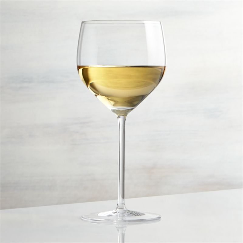 Great wines deserve the right glass to bring out their distinct aromas and tastes. Our Vineyard wine glass collection offers a suite of glasses, each crafted with specially shaped bowls to enhance the enjoyment of wines. The U-shaped profile and rounded bowl of the Chardonnay glass calls out the velvety texture of fuller white wines while keeping them properly chilled. Each elegantly shaped glass is handcrafted by highly skilled European glassmakers.<br /><br /><NEWTAG/><ul><li>Handcrafted</li><li>Glass</li><li>Hand wash</li><li>Made in Czech Republic</li></ul>