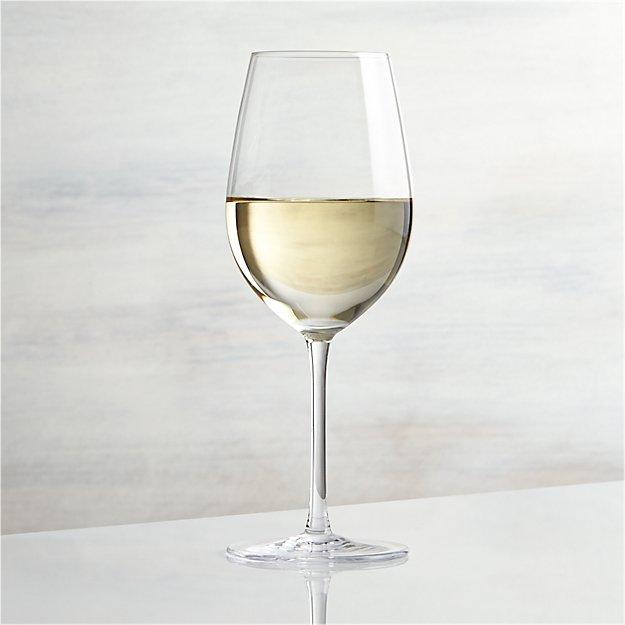 vineyard 12 oz white wine glass crate and barrel. Black Bedroom Furniture Sets. Home Design Ideas