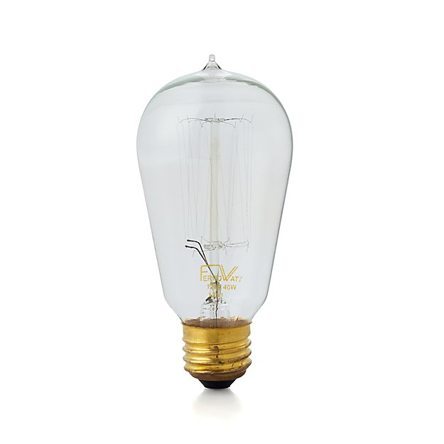Vintage 40w Filament Light Bulb Crate And Barrel