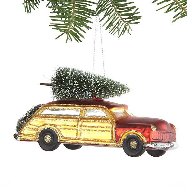 Vintage Christmas Car Ornament