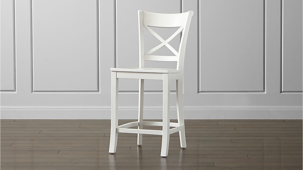 Vintner White Counter Stool Crate And Barrel