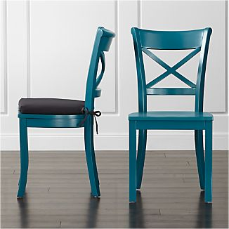 Vintner Peacock Wood Dining Chair and Cushion