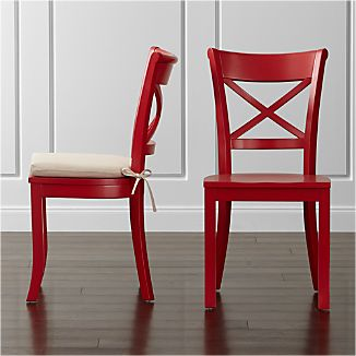 Vintner Red Wood Dining Chair and Cushion