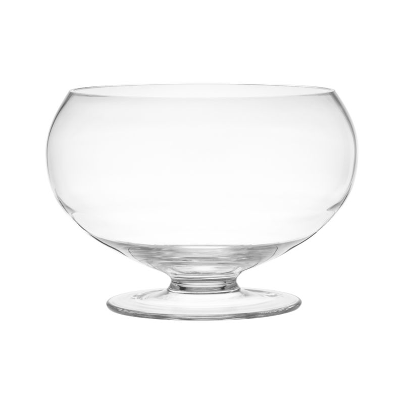 Refresh a whole crowd with this gracious punch bowl. Beautiful, thick-walled bowl raised on a footed base also serves fruit or salad, floats candles or blossoms.<br /><br /><NEWTAG/><ul><li>Handmade and molded glass</li><li>Cut and polished rim</li><li>Hand wash</li><li>Made in Poland</li></ul><br />